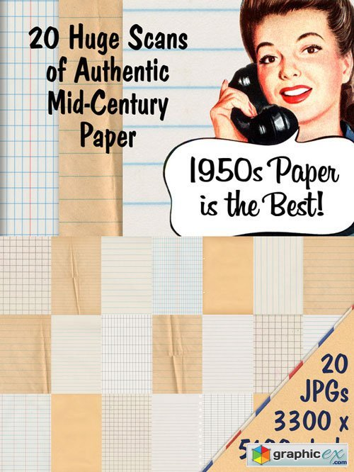 CM - Authentic Mid-Century Paper Pack - 94942