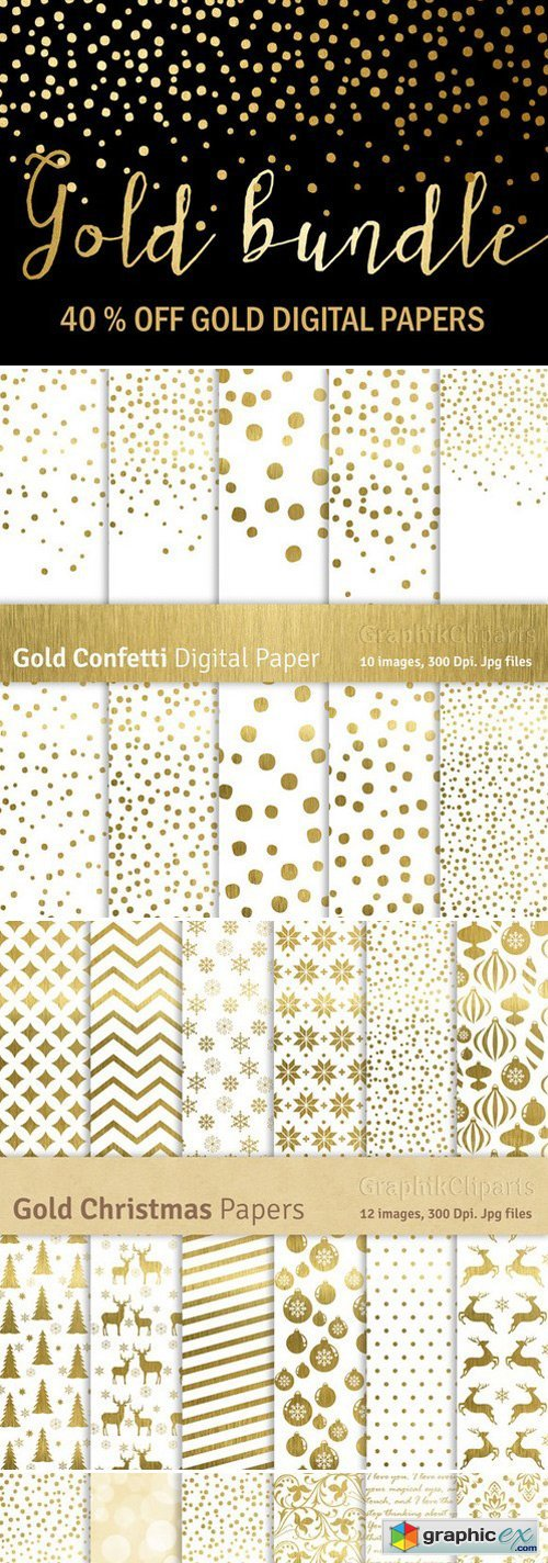 CM - Gold Bundle Gold Papers 449384
