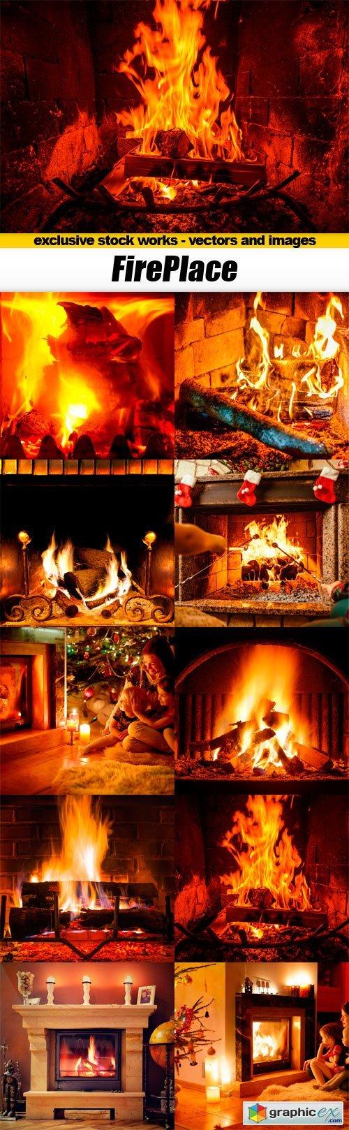 Fireplace - 10x JPEGs