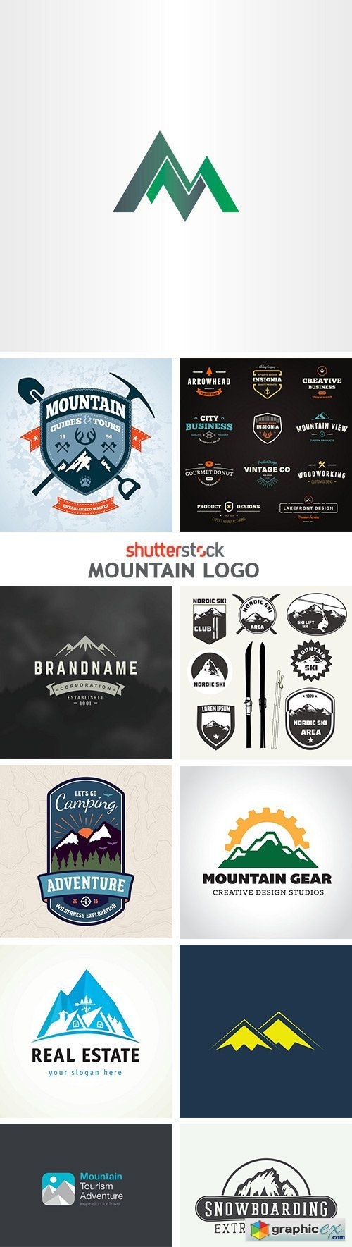 Mountain Logo - 25xEPS