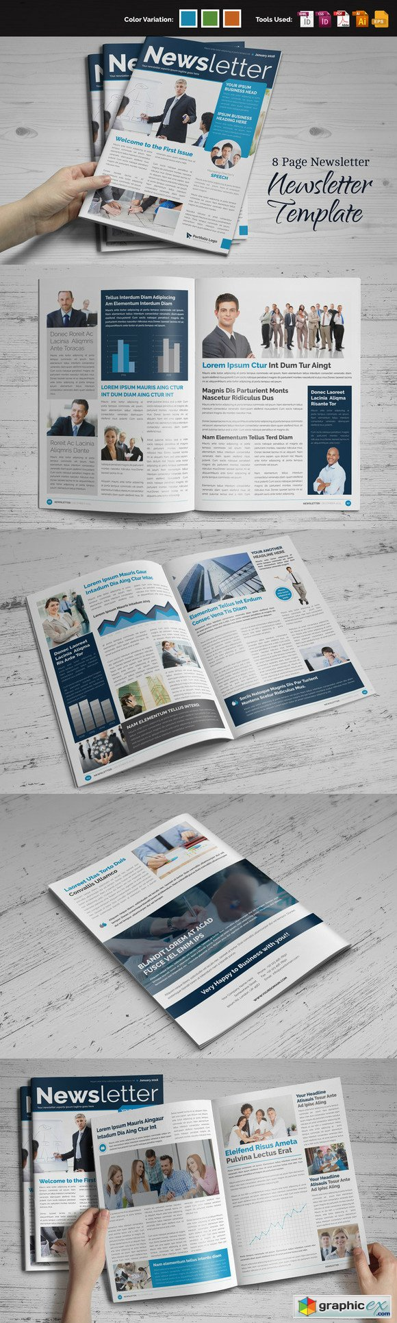 Newsletter Indesign Template 464762