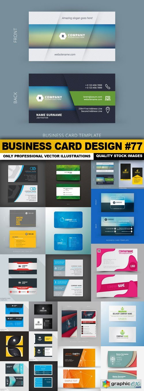 Business Card Design #77 - 20 Vector