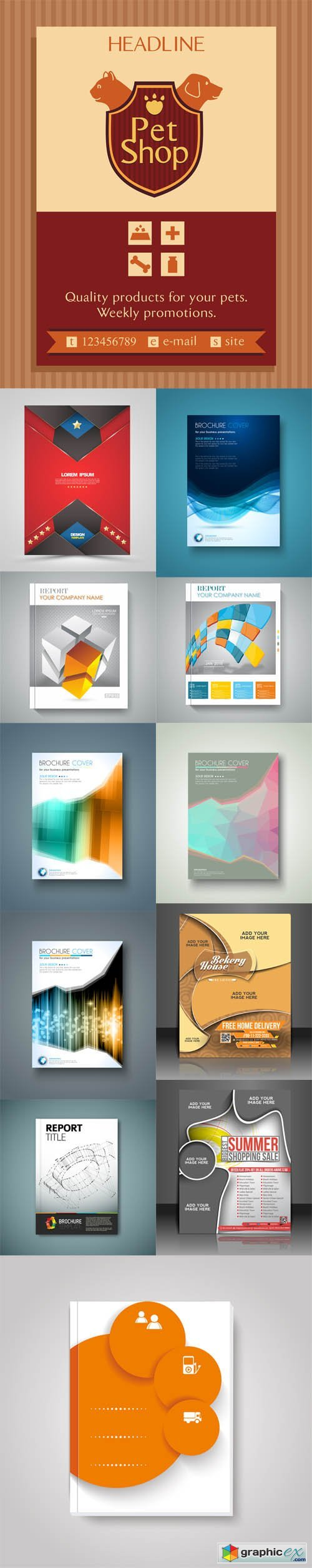 12 Brochures Templates Flyer Design