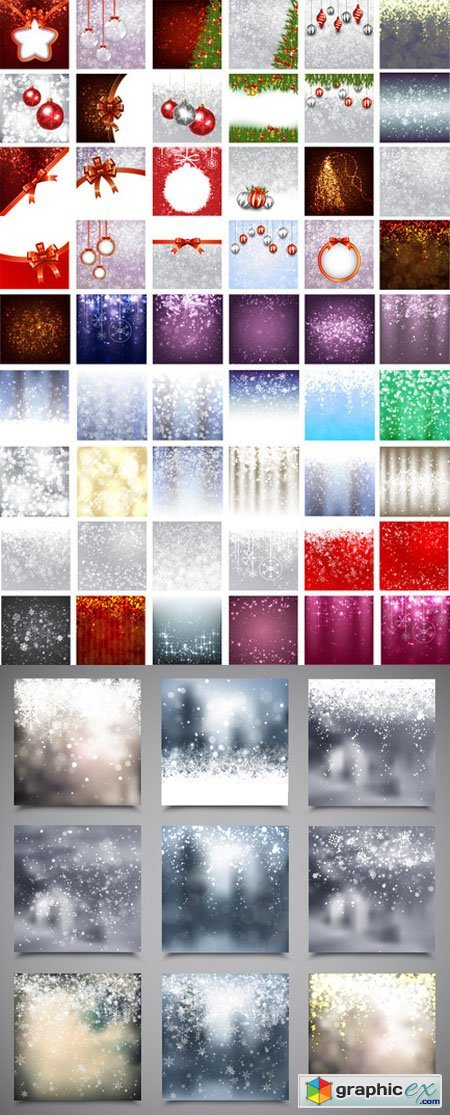 Christmas Background Vector Set