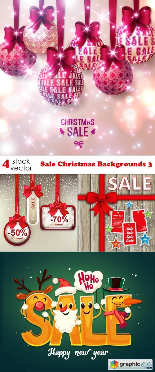 Vectors - Sale Christmas Backgrounds 3
