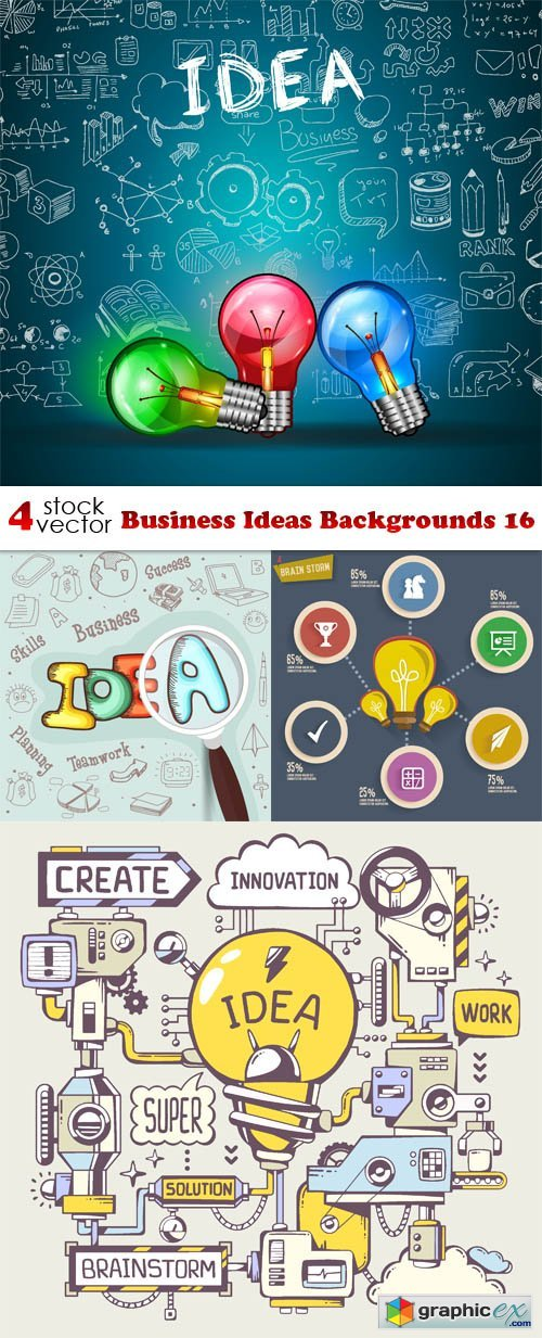 Vectors - Business Ideas Backgrounds 16