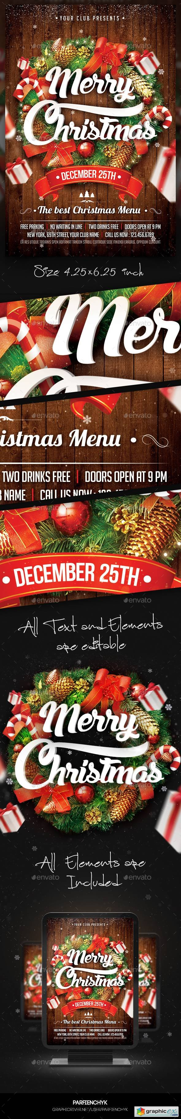 Christmas Party Flyer Template 13746216