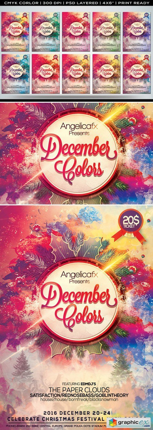 December Colors Flyer Template