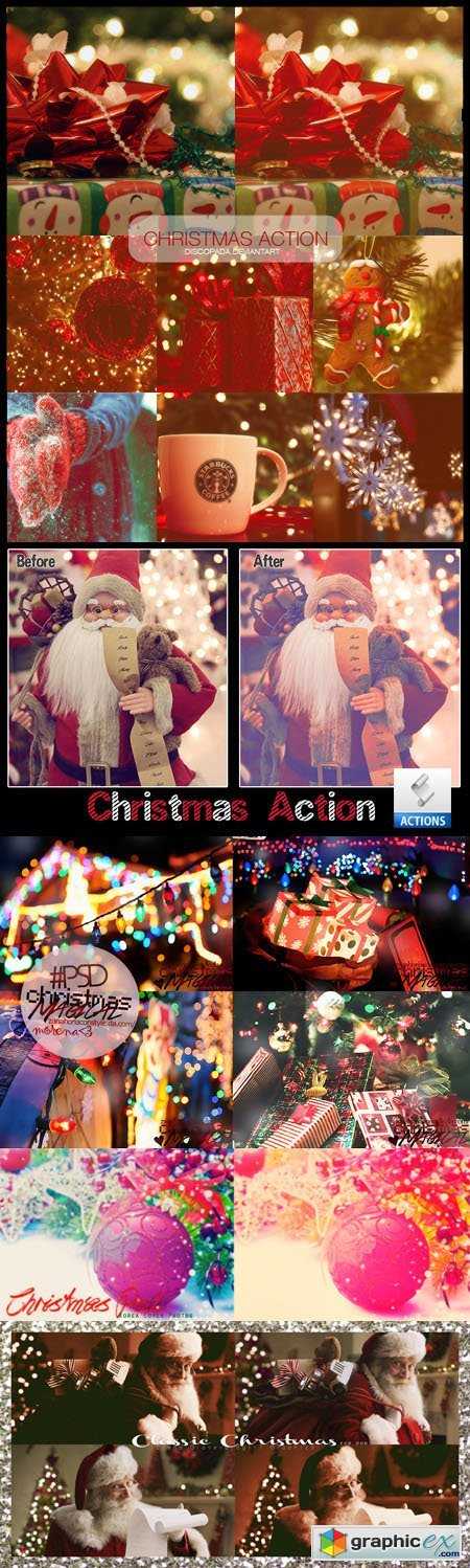 Magical Christmas Photoshop Actions & PSD Effects