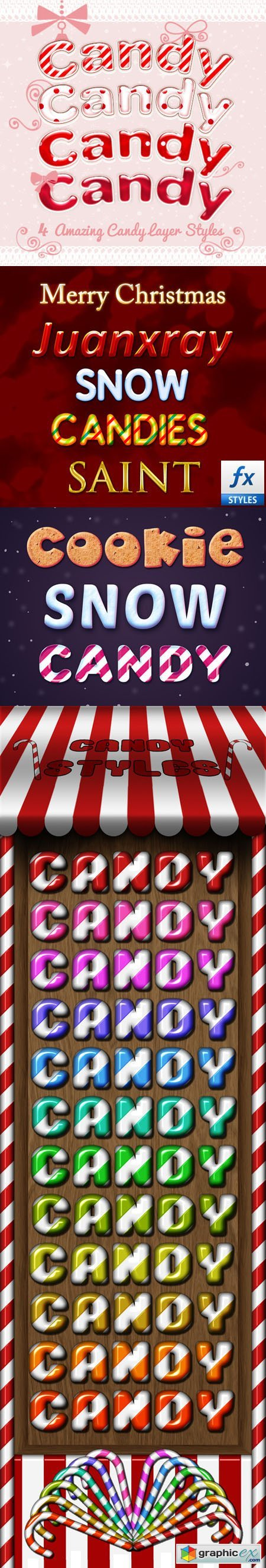Candy Photoshop Styles and Text Effects