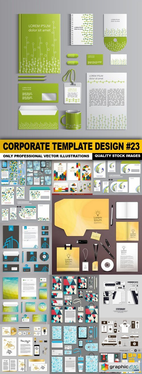 Corporate Template Design #23 - 16 Vector