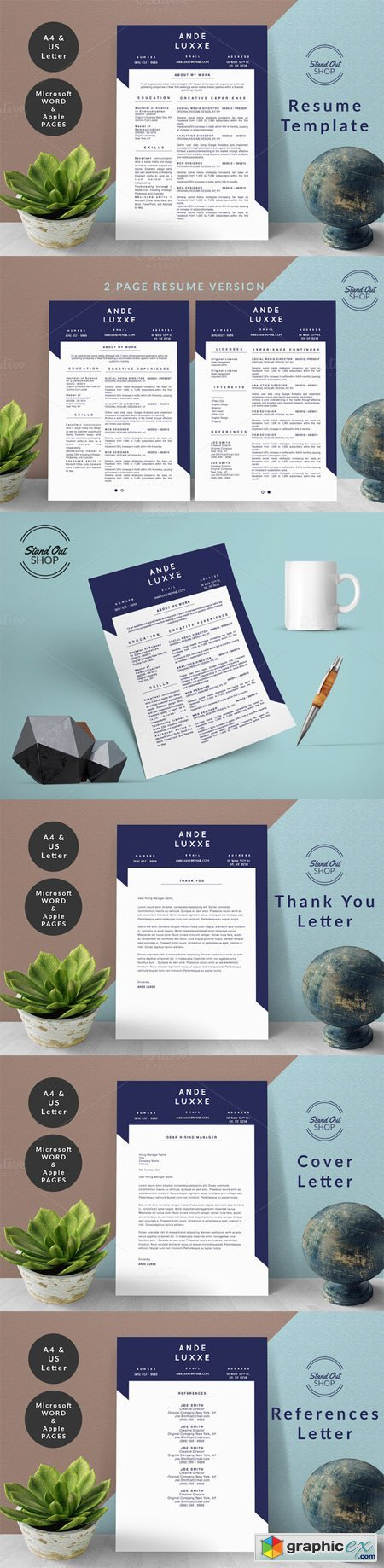 Ande Luxxe Resume MS Word Apple Page