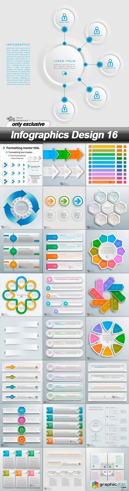 Infographics Design 16 - 25 EPS