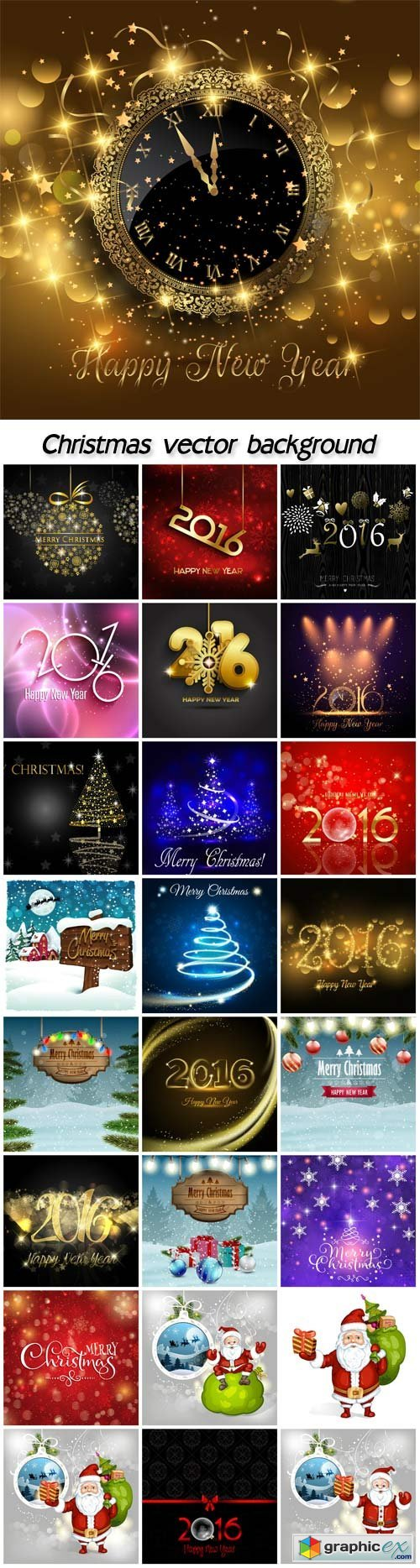 Christmas set, vector Christmas backgrounds