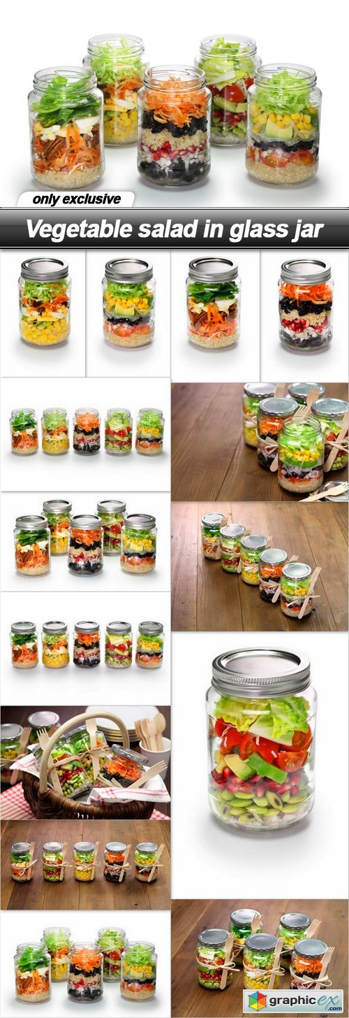 Vegetable salad in glass jar - 14 UHQ JPEG