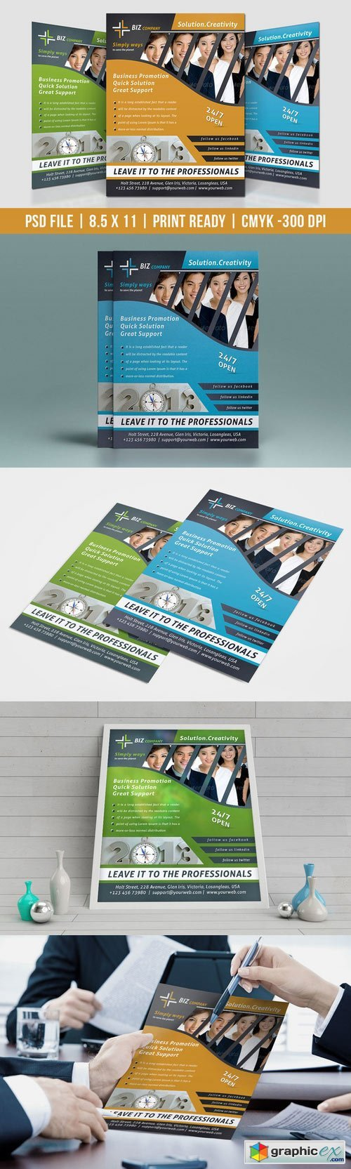Corporate Business Flyer 482013