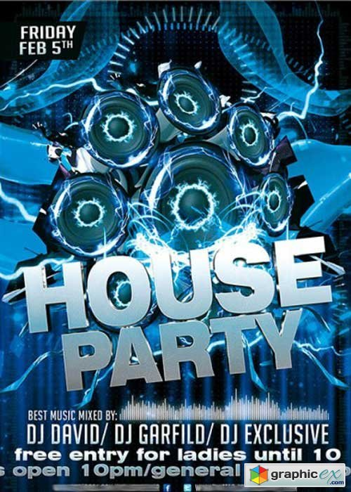 House Party Premium Flyer Template