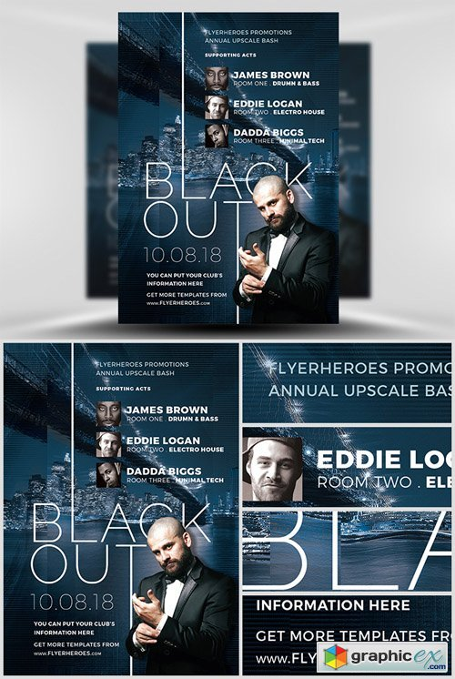Blackout Nightclub Flyer Template