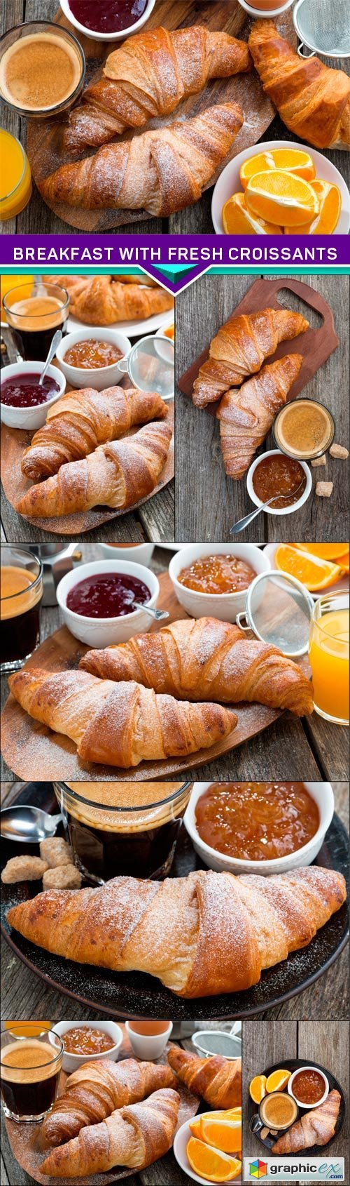 Breakfast with fresh croissants 7x JPEG