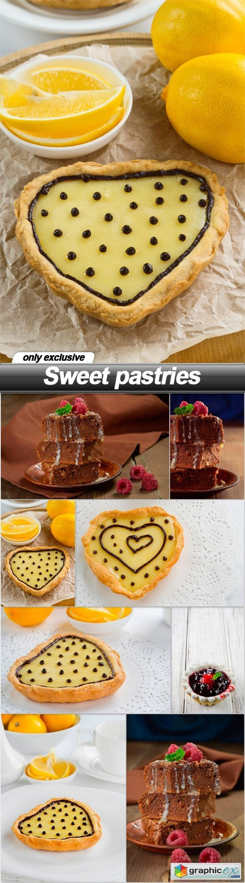 Sweet pastries - 8 UHQ JPEG
