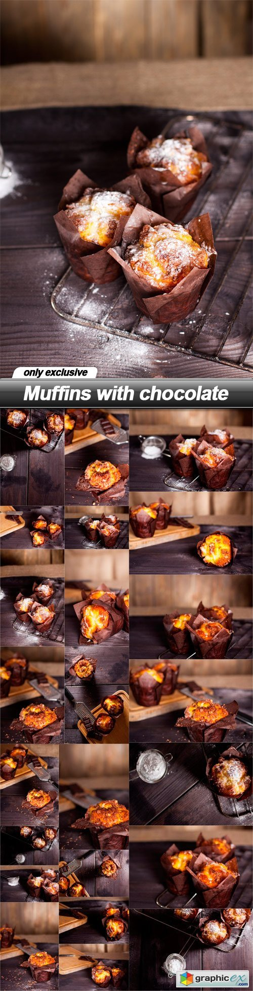 Muffins with chocolate - 23 UHQ JPEG
