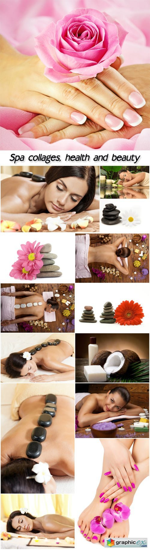 Spa collages, health and beauty, women
