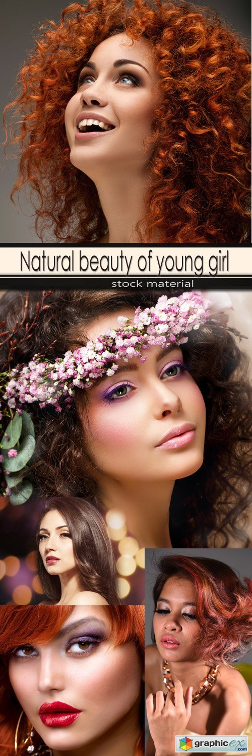 Natural beauty of young girl
