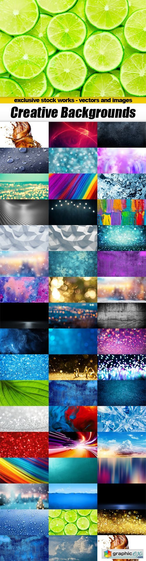 Creative Backgrounds - 50x JPEGs
