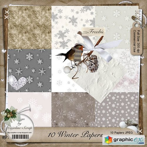 Winter Paper Backgrounds