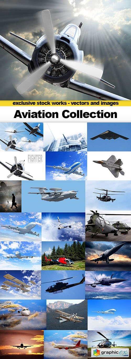 Aviation Collection - 25 UHQ JPEG