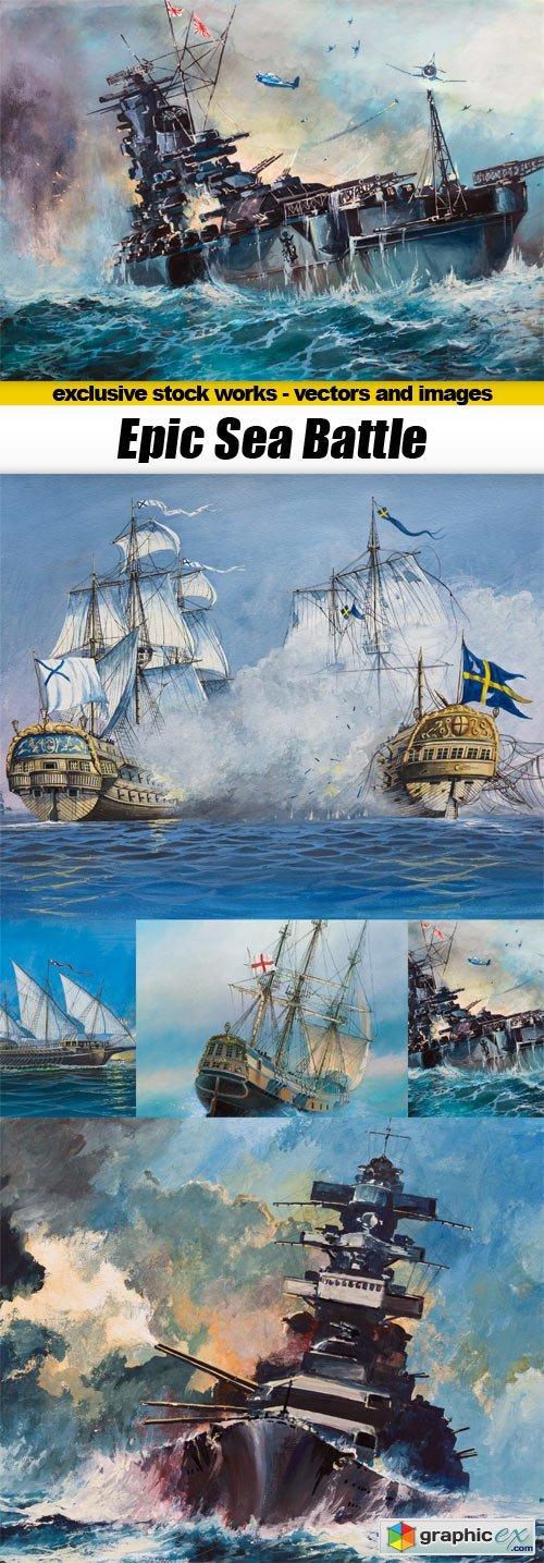 Epic Sea Battle - 5x JPEGs