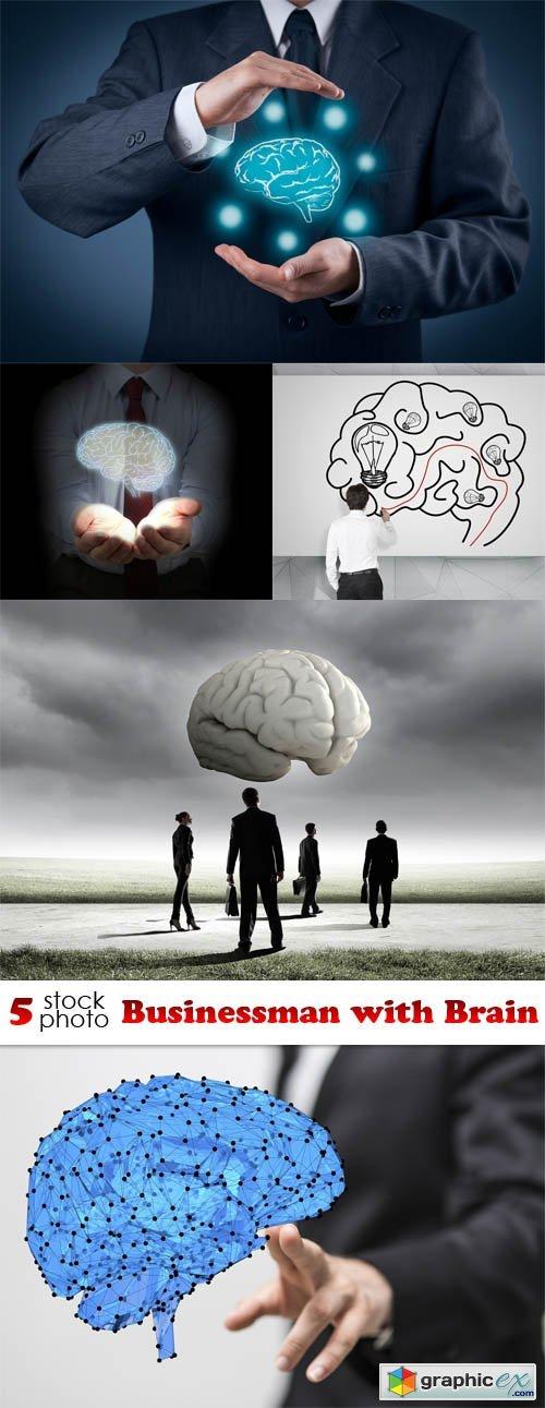 Photos - Businessman with Brain