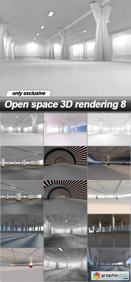 Open space 3D rendering 8 - 30 UHQ JPEG