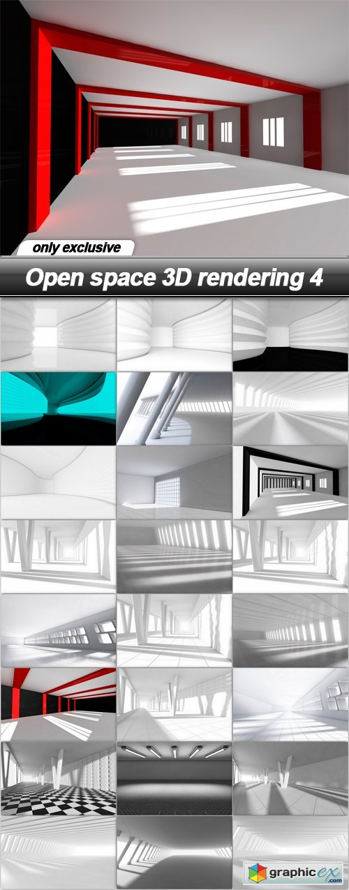 Open space 3D rendering 4 - 25 UHQ JPEG