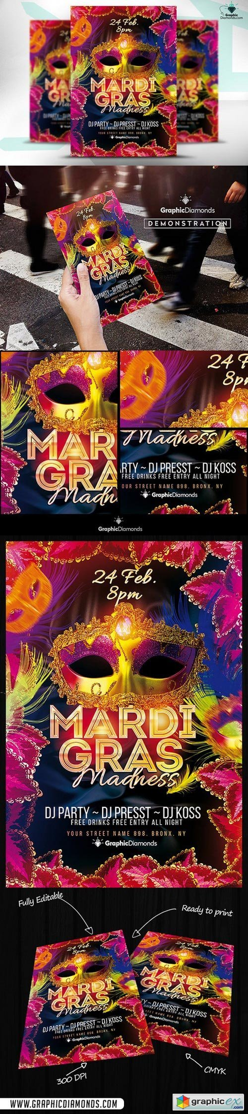 Mardi Gras Madness Flyer