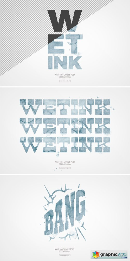 Wet Ink Smart PSD