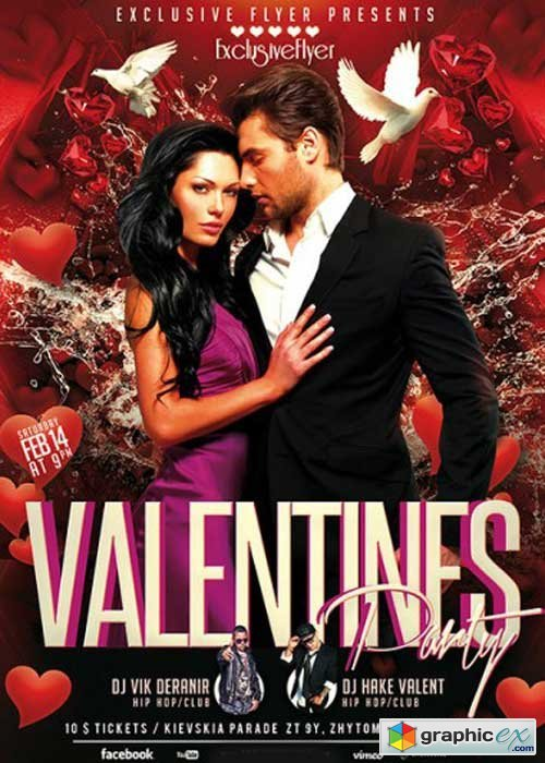 Valentines Party Premium Flyer Template