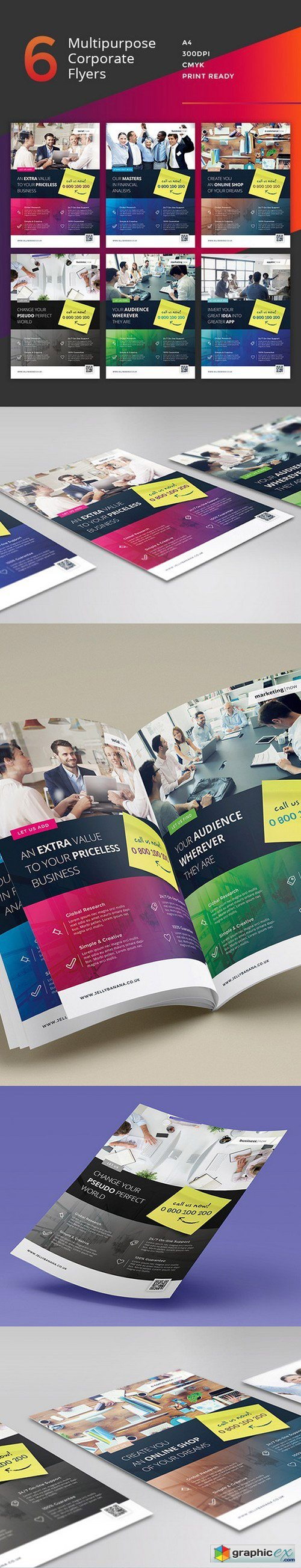 6 Multipurpose Business Flyers, Ads 476821