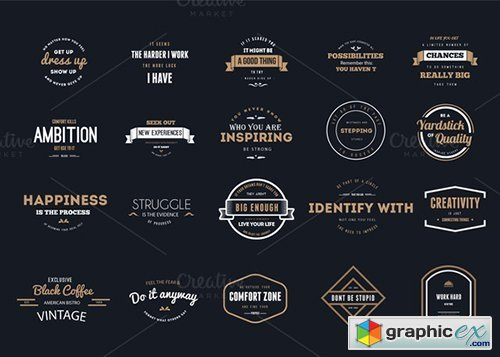 20 Typography Labels