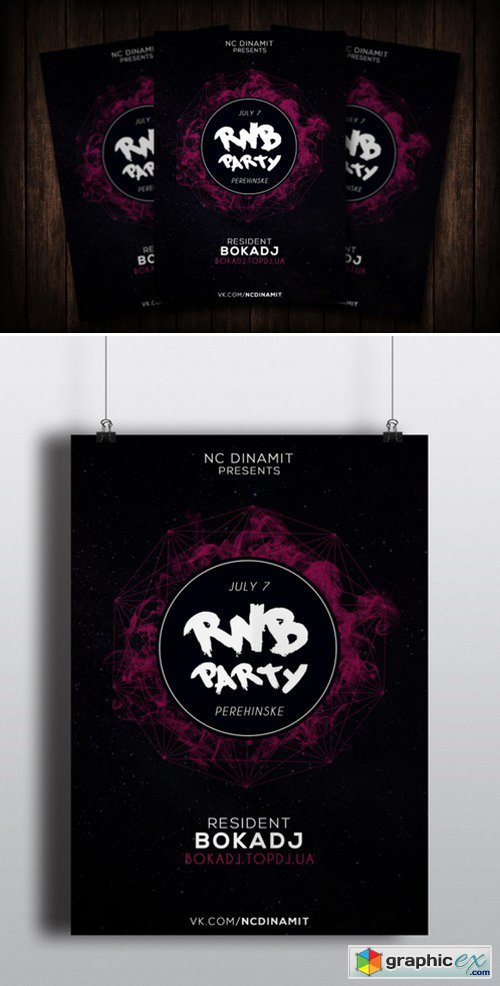 RNB Party Flyer 474017