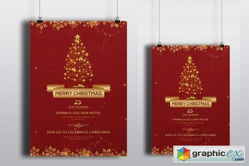 Christmas party flyer-V122