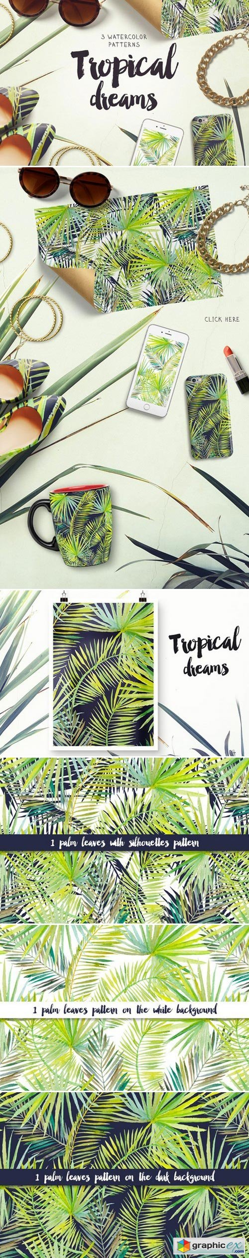 Tropical dreams patterns