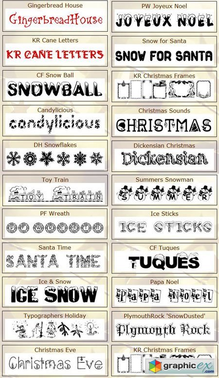 22 New Year Holiday Fonts