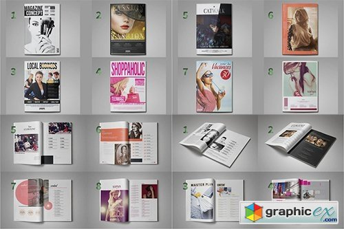 Magazine Template Bundle 8 in 1