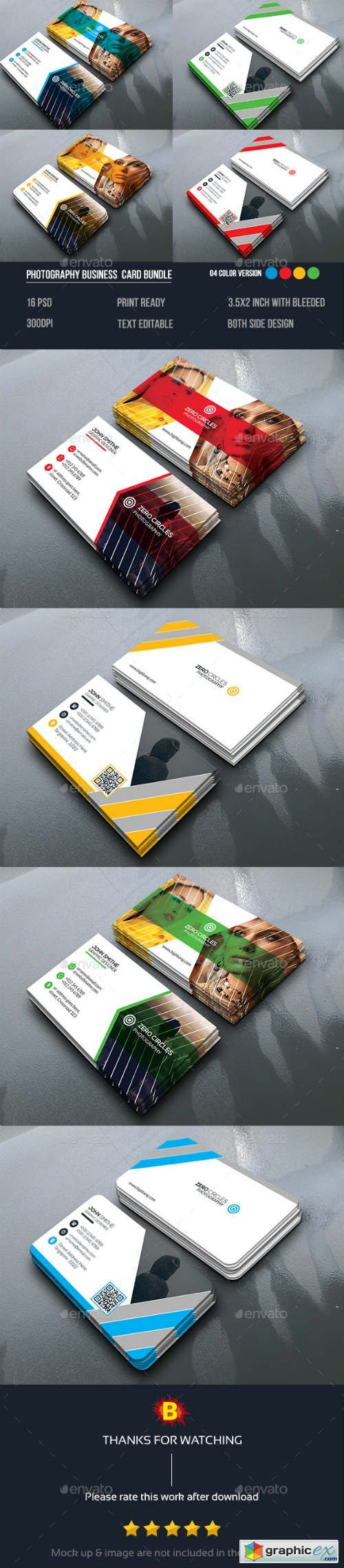 Photography Business Card Bundle 14153049