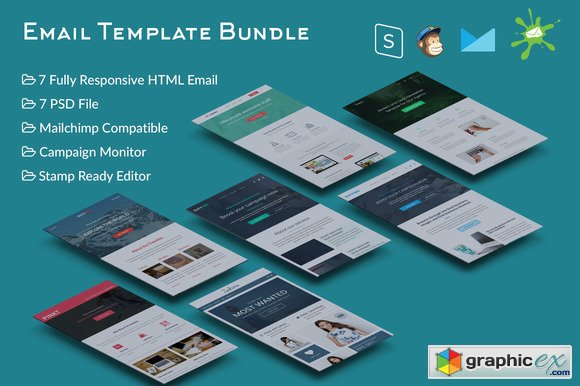 7 Responsive Email Template Bundle 486546