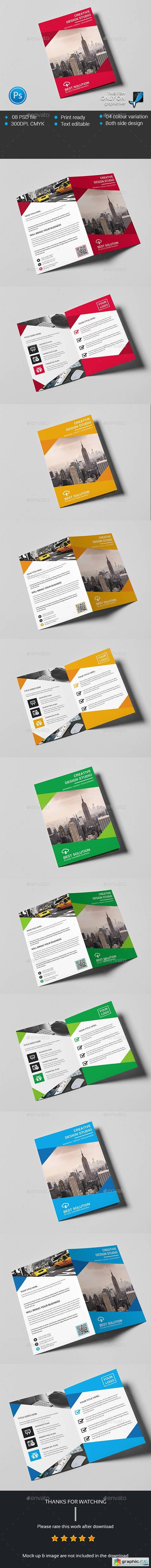 Corporate Business Bi-fold Brochure 13948978