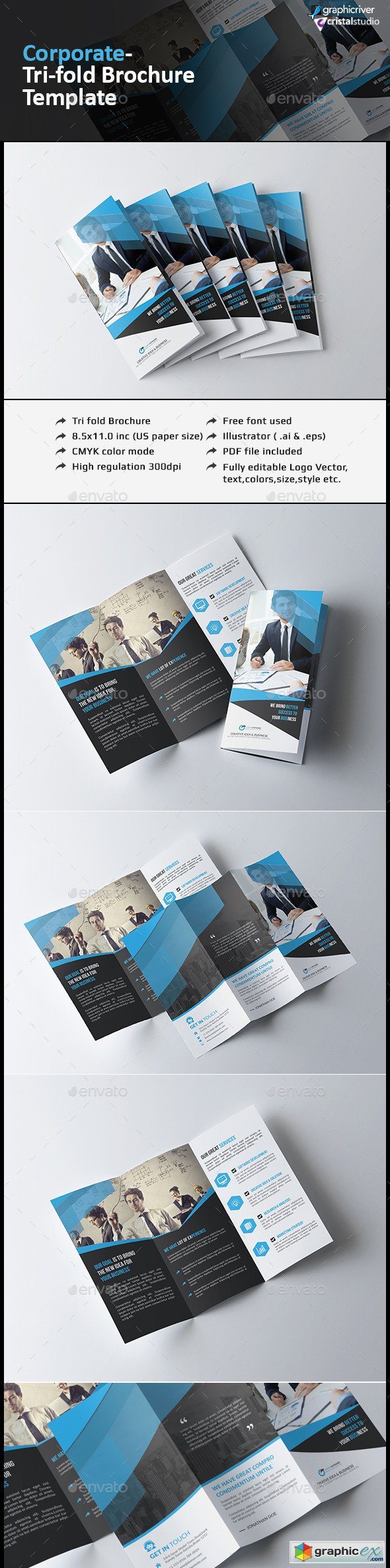 Corporate Tri-fold Brochure-Multipurpose 12532804