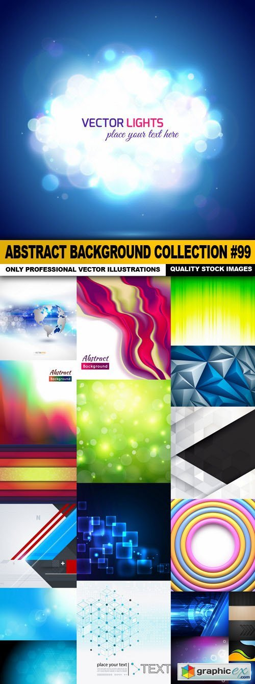 Abstract Background Collection #99 - 20 Vector