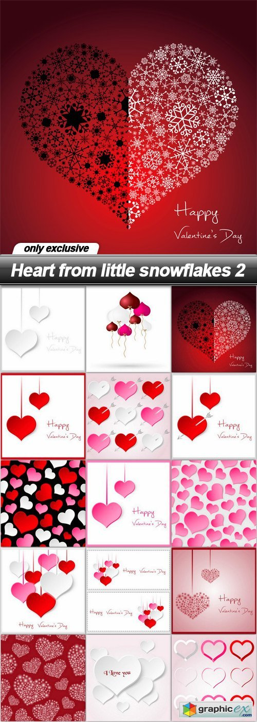 Heart from little snowflakes 2 - 15 EPS
